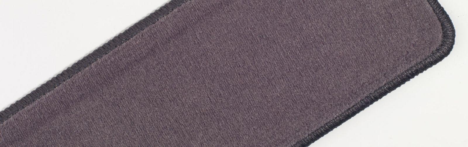 sample hassock plain velvet color code 682 color dark grey