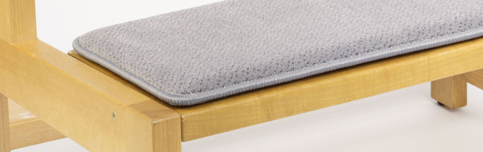 Sample bank Pew Runner Samtplush Color code 2683 Color gray