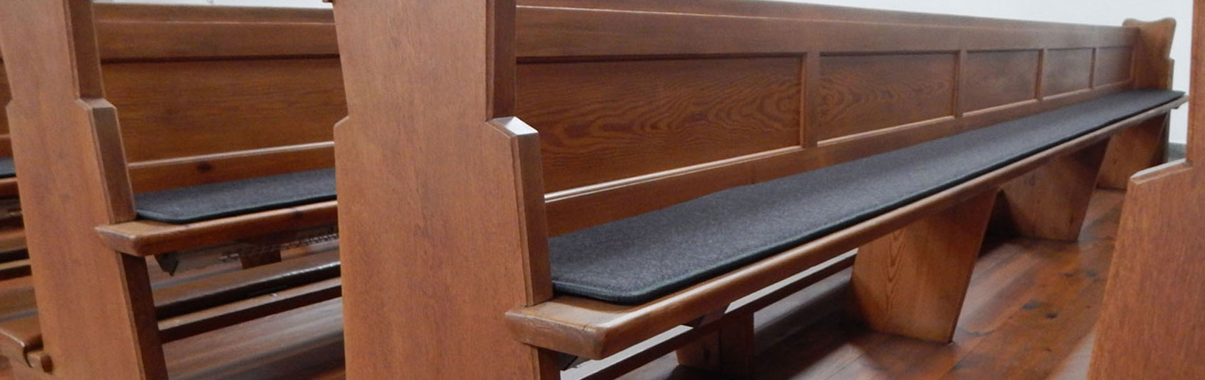 church bank pew runner felt