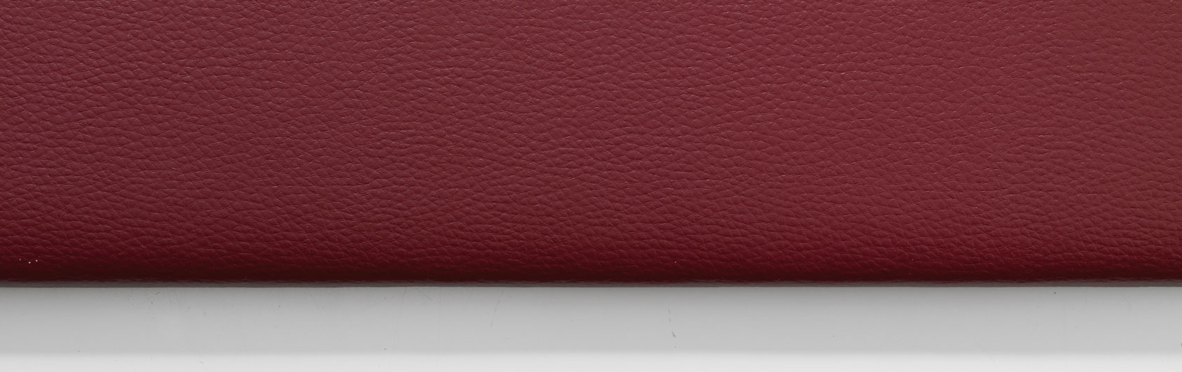 sample hassock faux leather color code 4348 color red