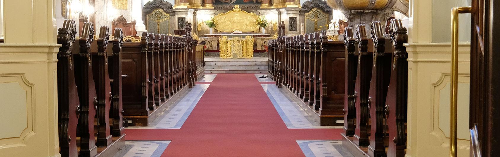 church carpet Perlon Rips Hamburg Michel